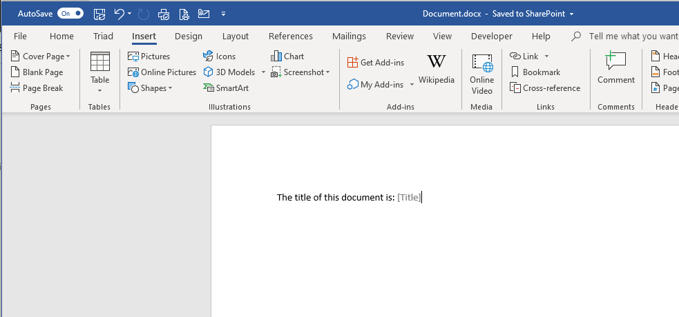 Document Properties in Word