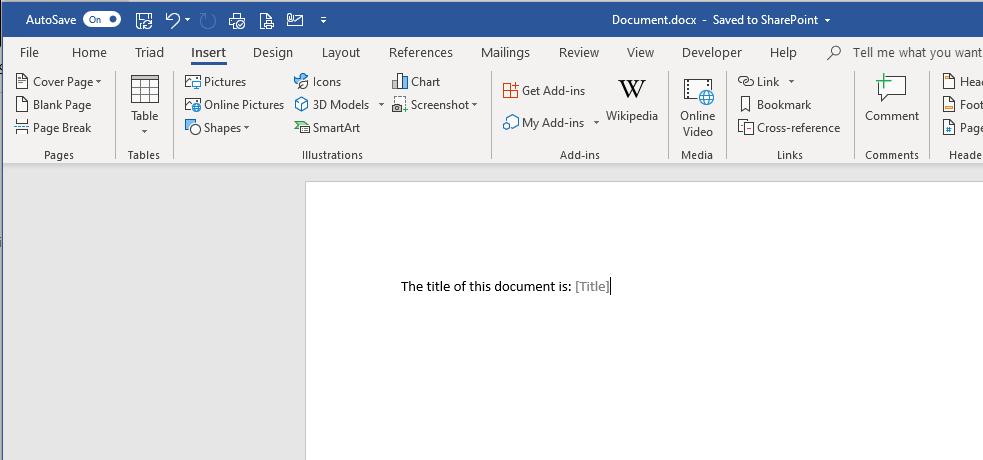 Document Properties in Word