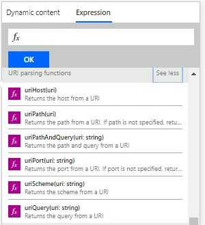 URI Expressions in Power Automate