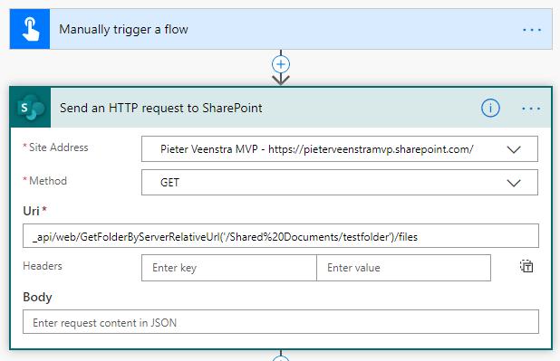 Get files using REST API
