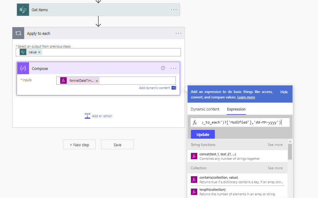 Datetime formatted example