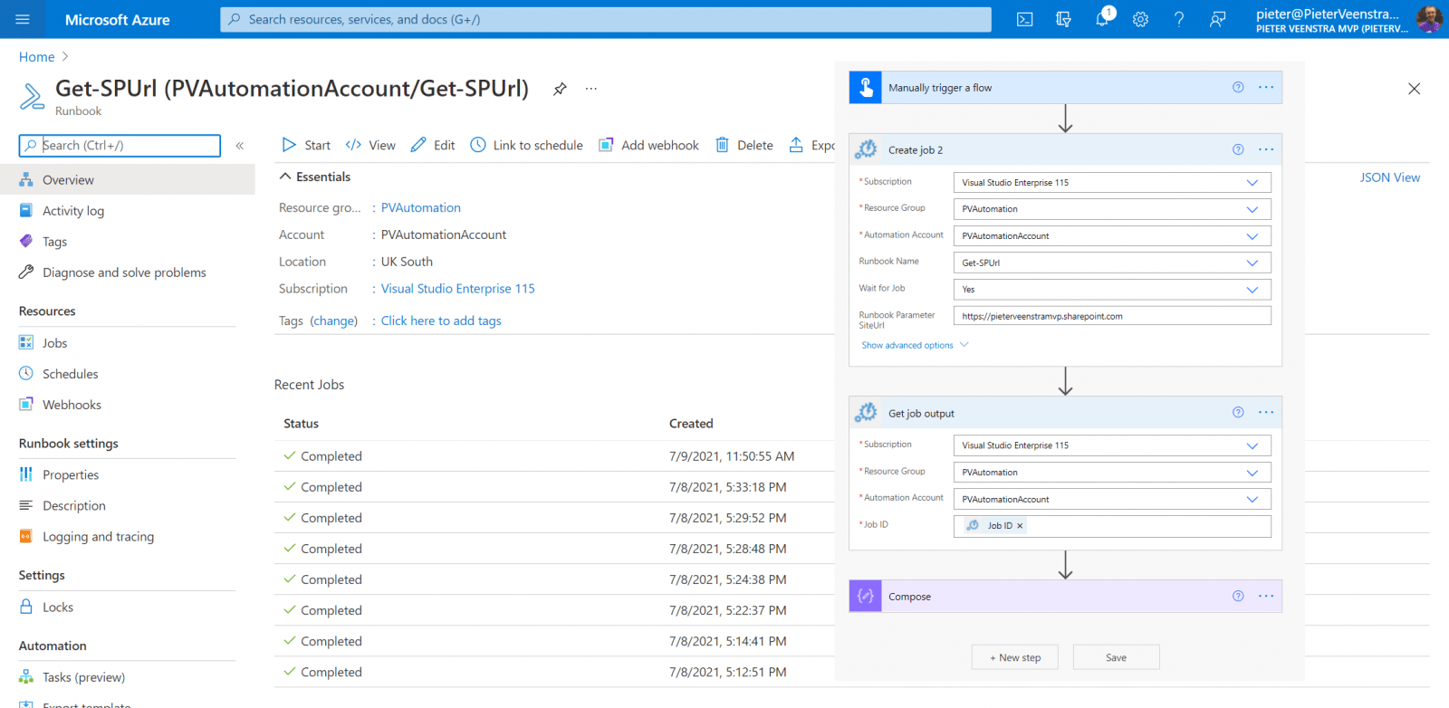 Using PnP PowerShell with Azure Automation Accounts Microsoft Azure, Microsoft Power Automate, Microsoft SharePoint Online Power Automate and Azure Automation Accounts